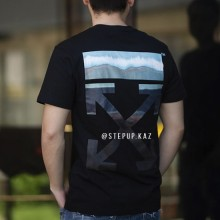 Off-White Gradient Slim Fit T-shirt Black