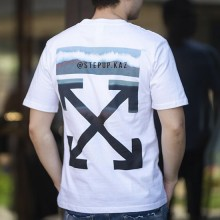 Off-White Gradient Slim Fit T-shirt White