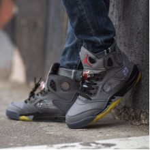 "Jordan 5 Retro X Off-White ""Black"""