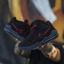 "Nike LeBron 17 Low ""Black Red Dark Grey"""