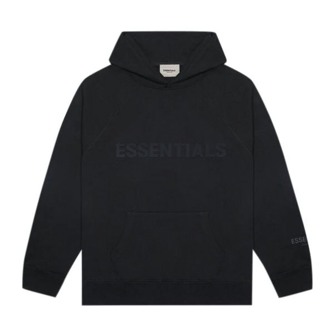 "FEAR OF GOD ESSENTIALS 3D Silicon Applique Pullover Hoodie ""Dark Slate"""