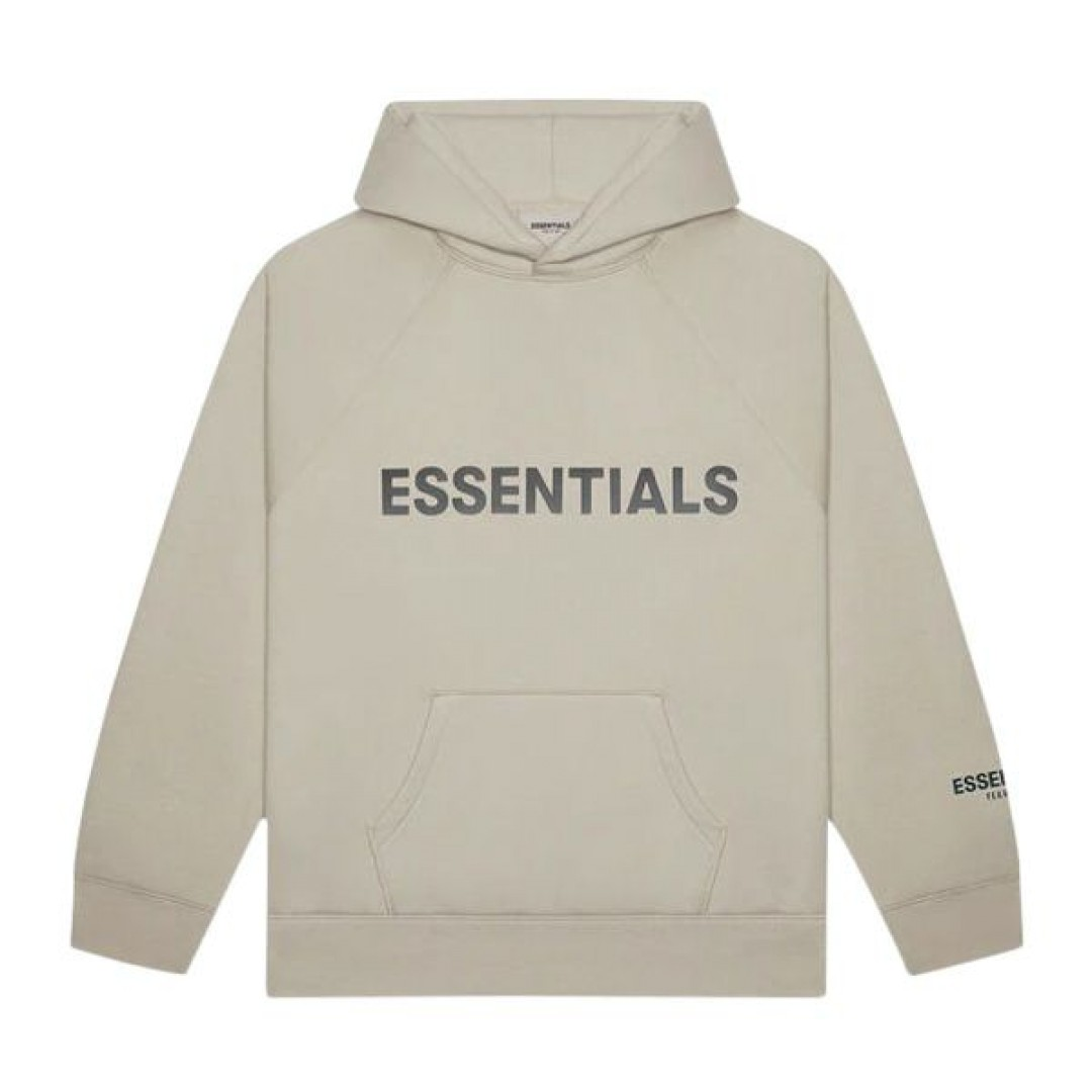 """FEAR OF GOD ESSENTIALS 3D Silicon Applique Pullover Hoodie """"String"""""""