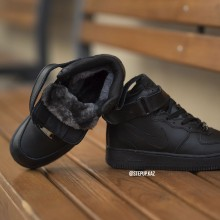 "Air Force 1 Winter ""Black"" Leather"